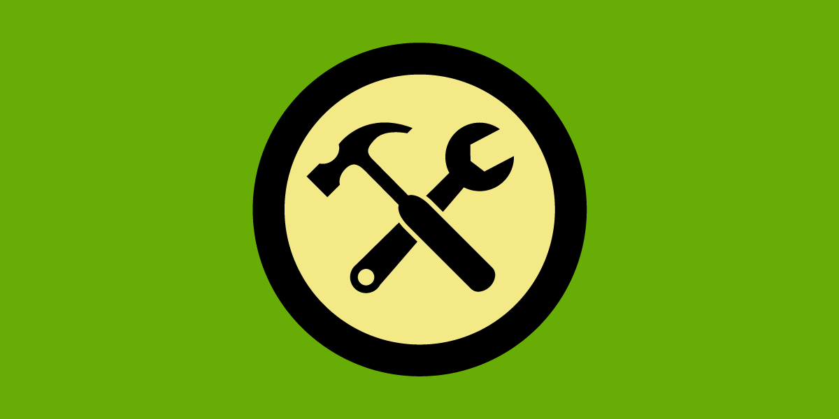 EFF's Right to Repair logo: a green flag with a crossed hammer and crescent wrench in a centered yellow circle.