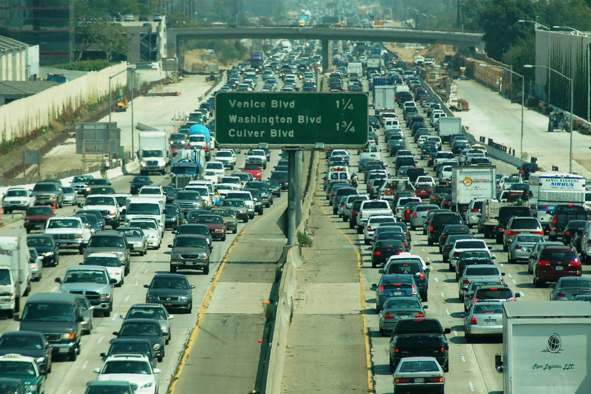 The i-5 highway in Los Angeles