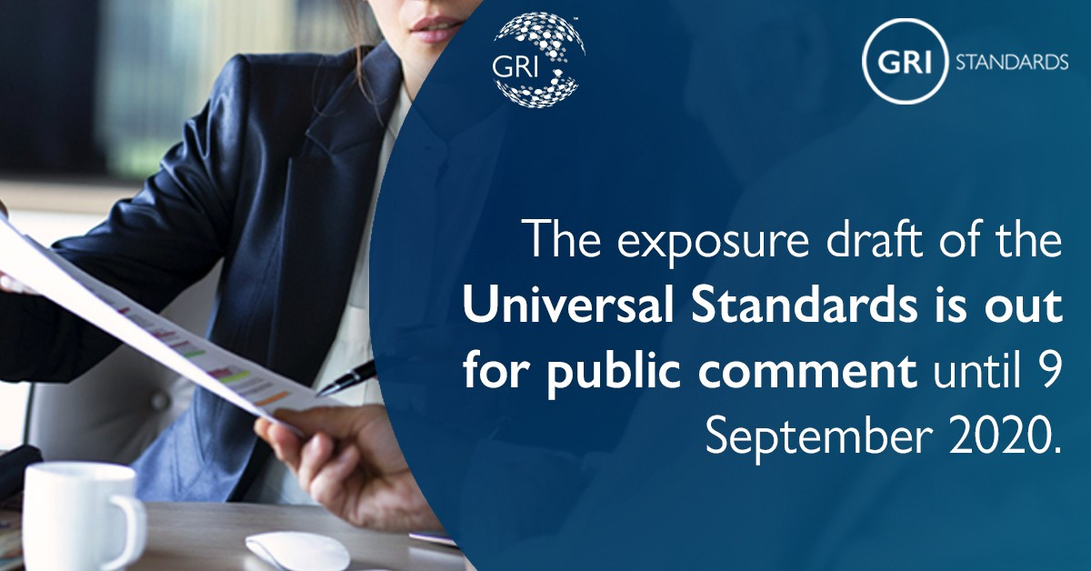 Public comment period for the GRI Universal Standards is open until 9 September