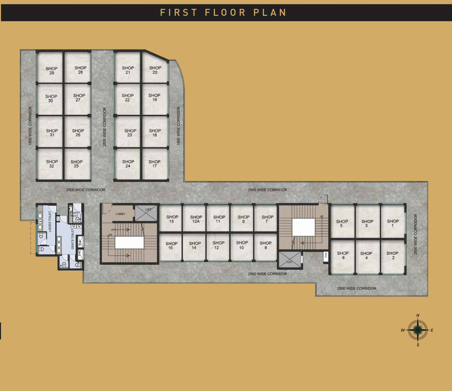 first floor plan for Signature Signum plaza sector 63a Gurgaon