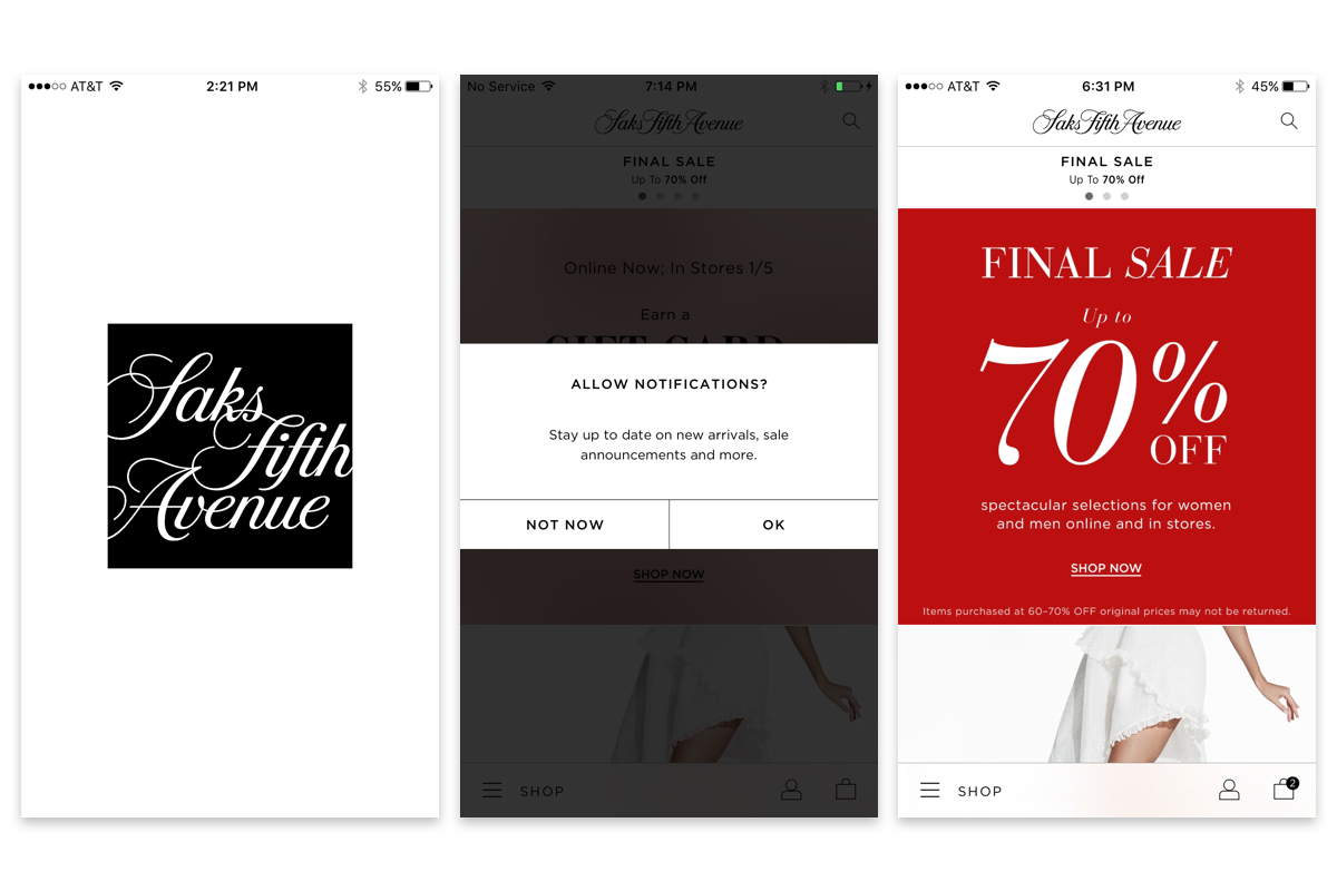 Saks Fifth Avenue Mobile Shopping App Review