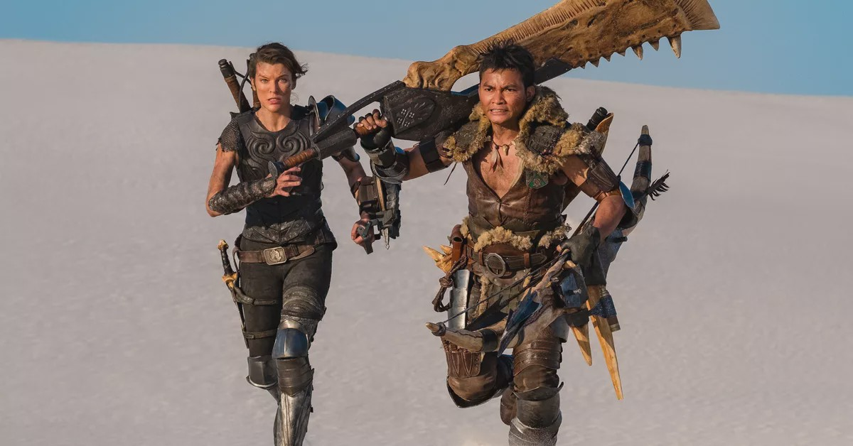 Milla Jovovich and Tony Jaa in 'Monster Hunters'