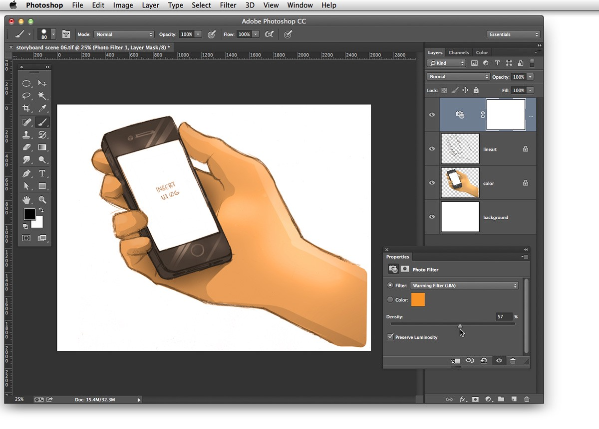 Coloring Lineart in Photoshop - Visualhero Design