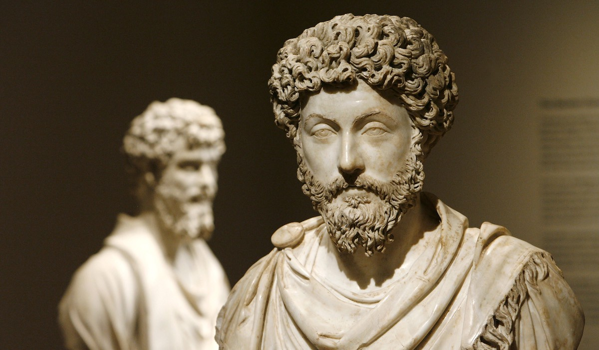 """image of bust of Marcus Aurelius for article titled """"Ancient Remedies for Modern Problems"""" on The Creative Mind"""