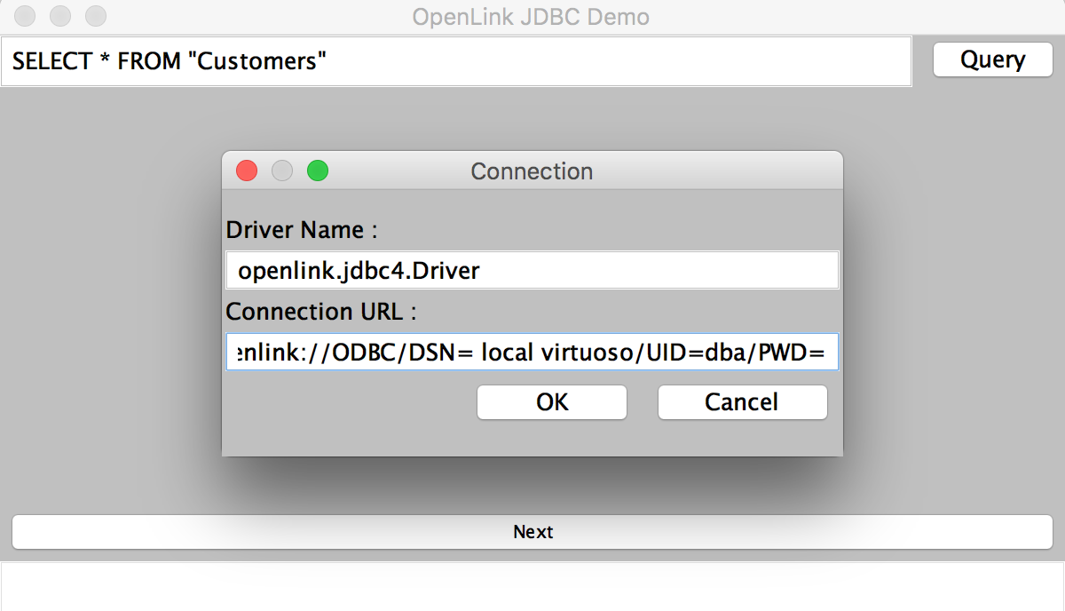Getting Started with OpenLink's JDBC–to–ODBC Bridge Driver