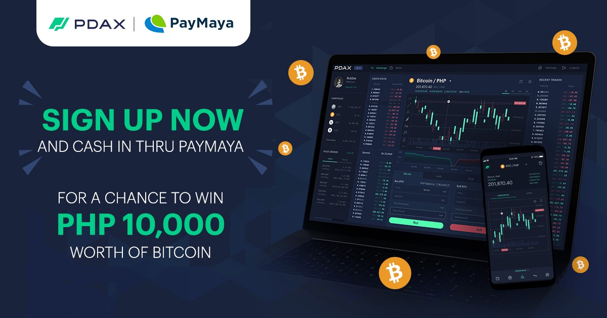 Win PHP 10,000 worth of bitcoin when you cash in using PayMaya at PDAX.