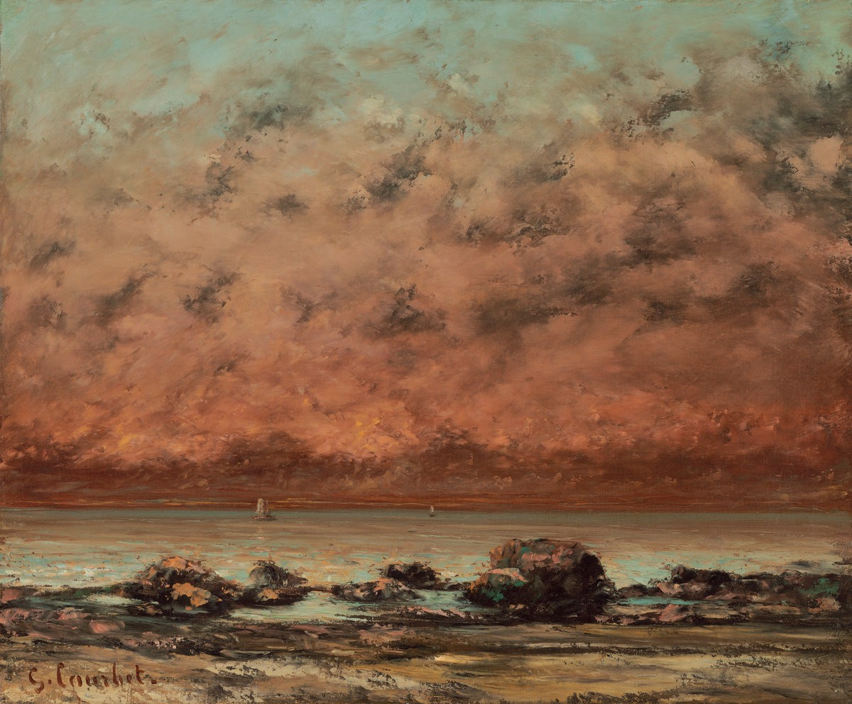 The Black Rocks at Trouville, Gustave Courbet 1865. Chester Dale Fund.