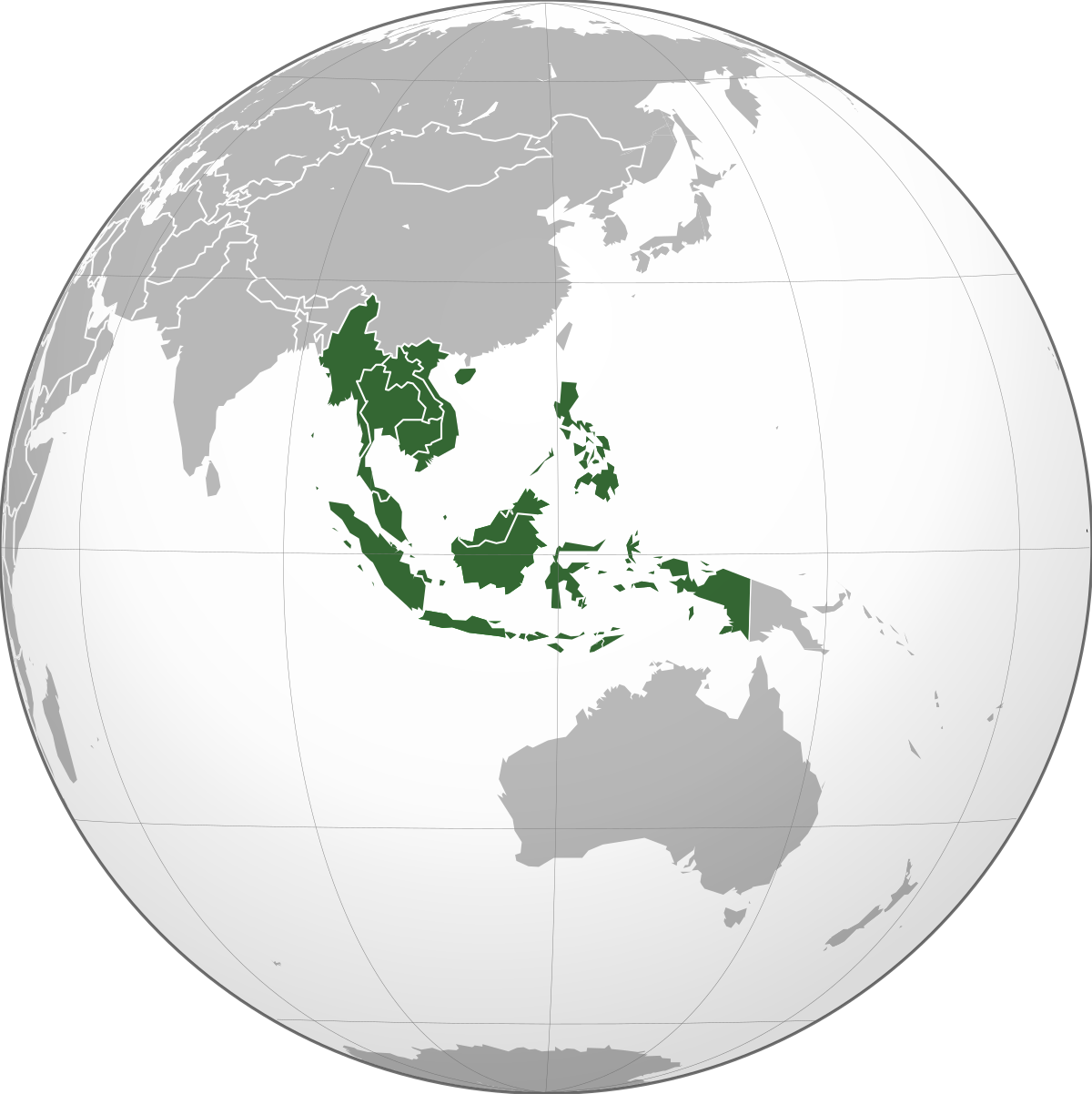 A picture of the map of Southeast Asia