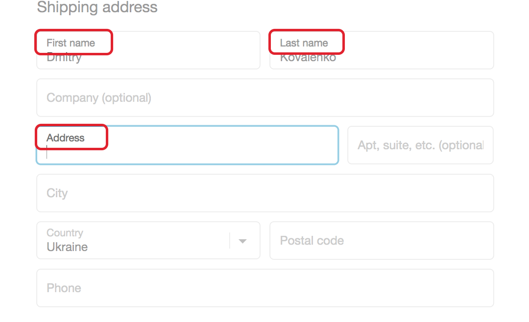 use form labels