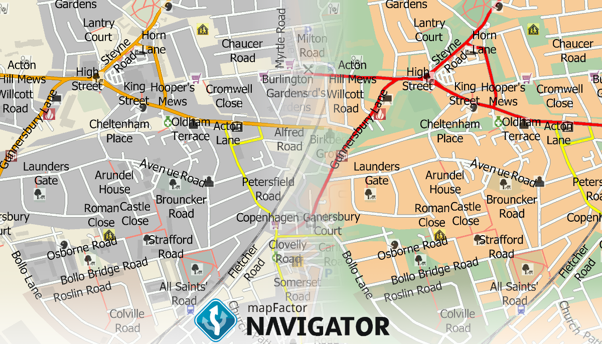 3 helpful tips how to customise the map in mapFactor Navigator