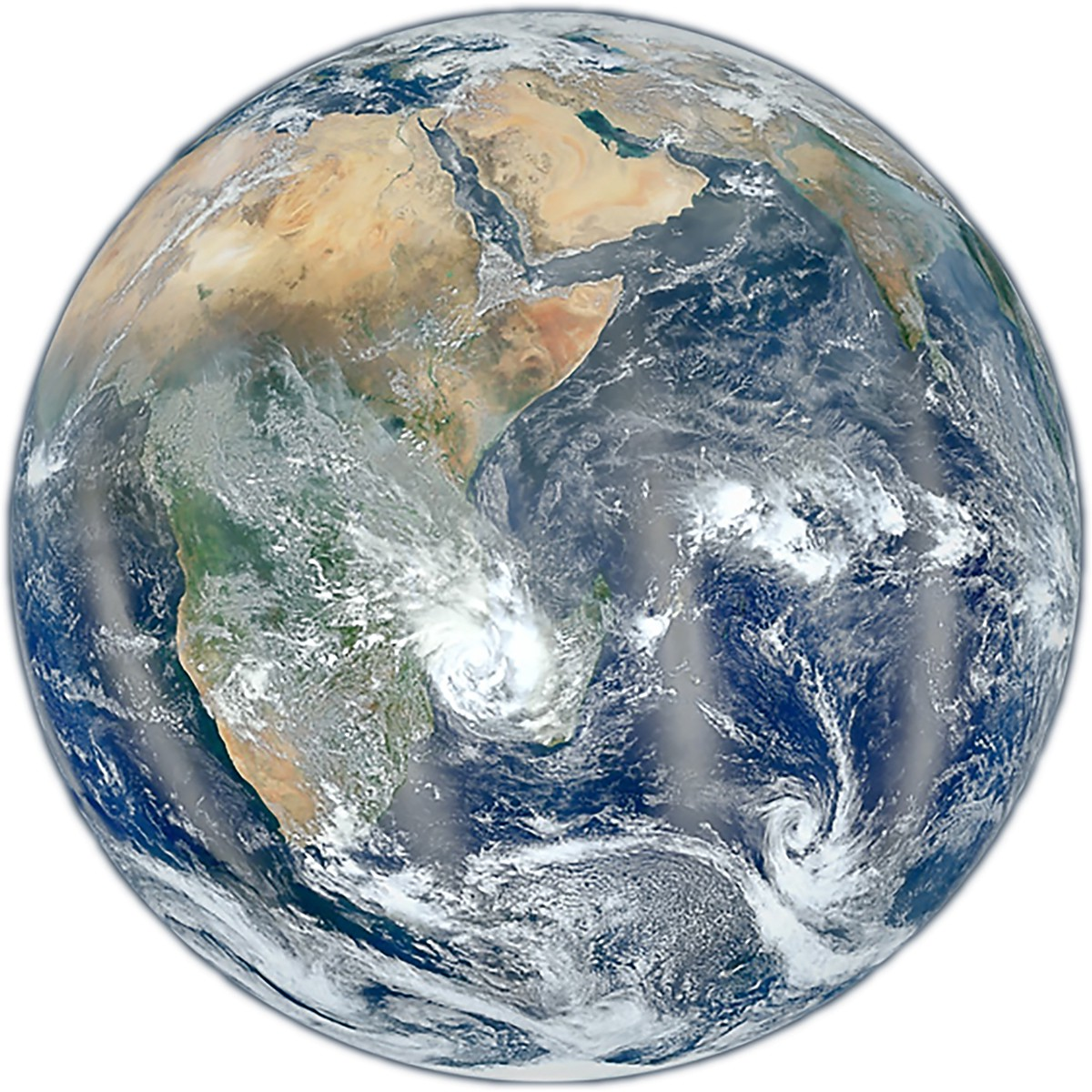 Full-color satellite image of the Earth.