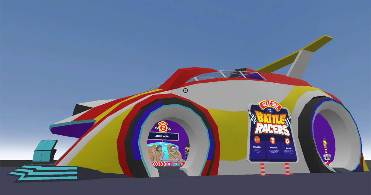 Check out the Battle Racers arena!