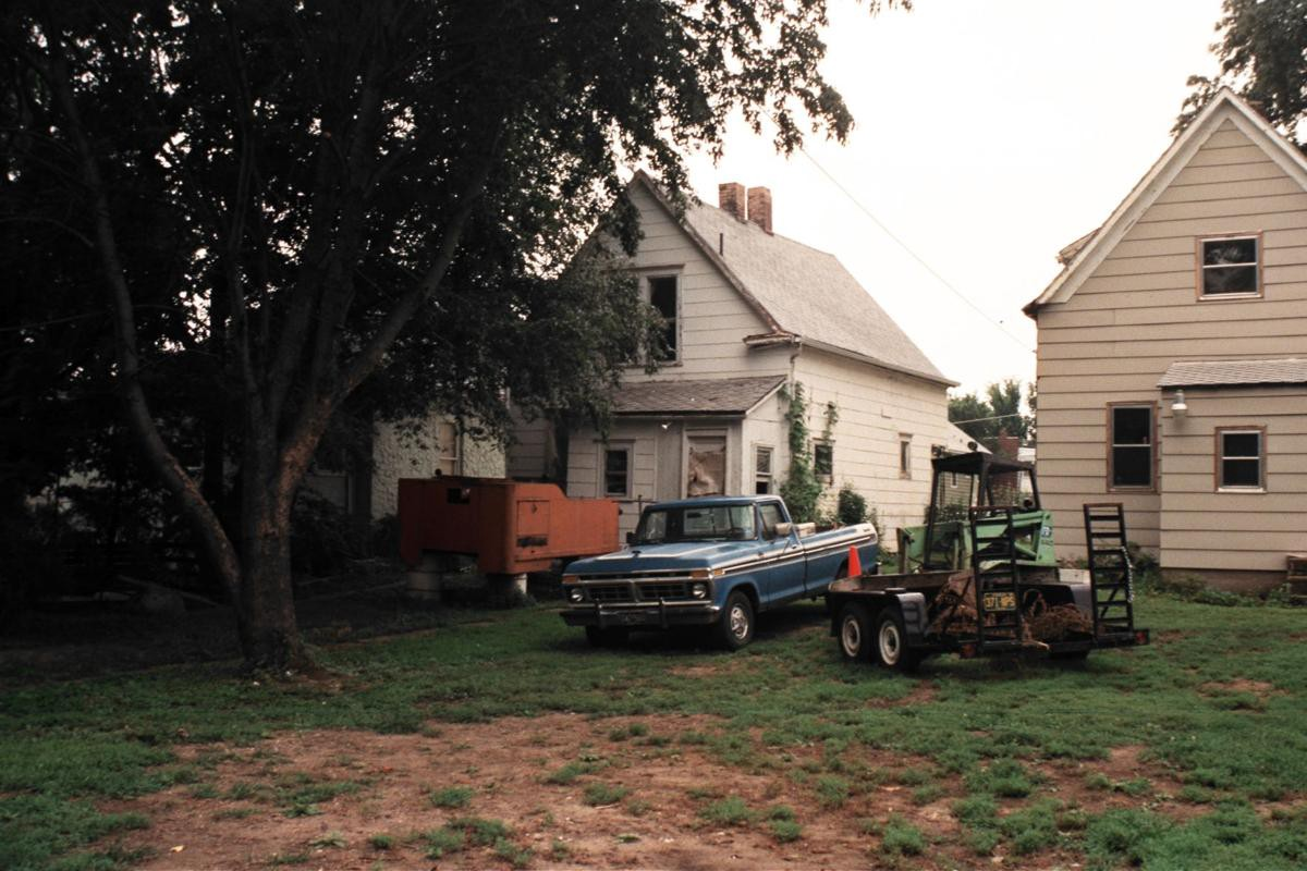 The Cox home near East 9th Street and Van Brunt Boulevard where the perpetrator entered a window that led to the second-floor bedroom of Fawn Cox. Photo courtesy of KCPD.