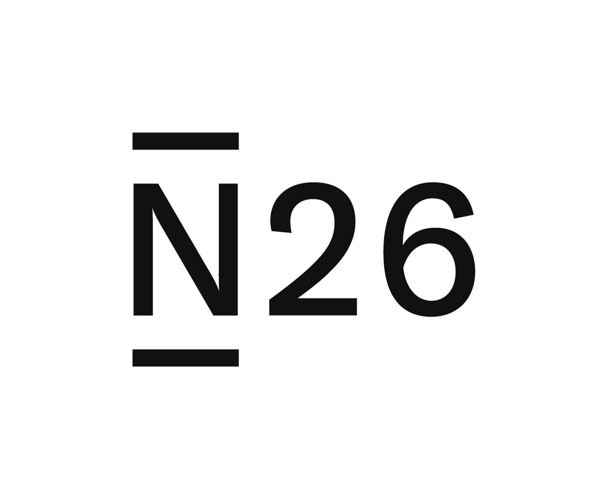 Photo of N26 Bank Logo, black on a white background