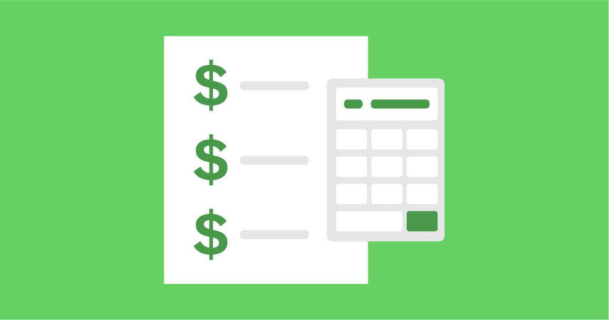 An expense report and a calculator