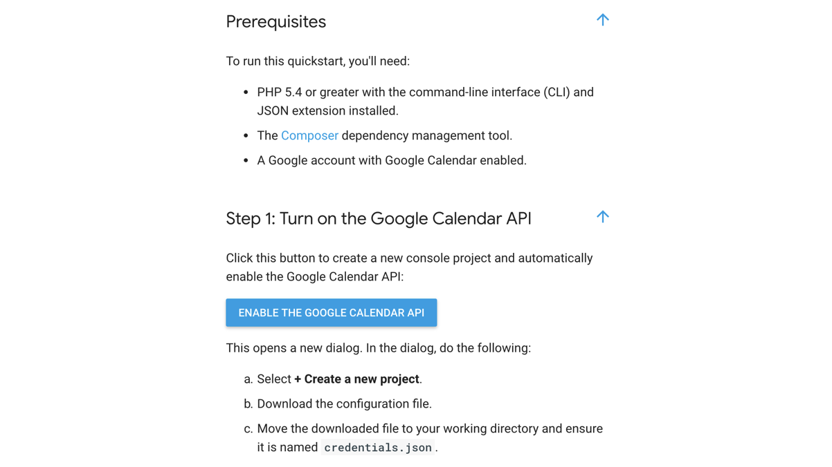 Displaying Google Calendar Events in a SilverStripe 4 app