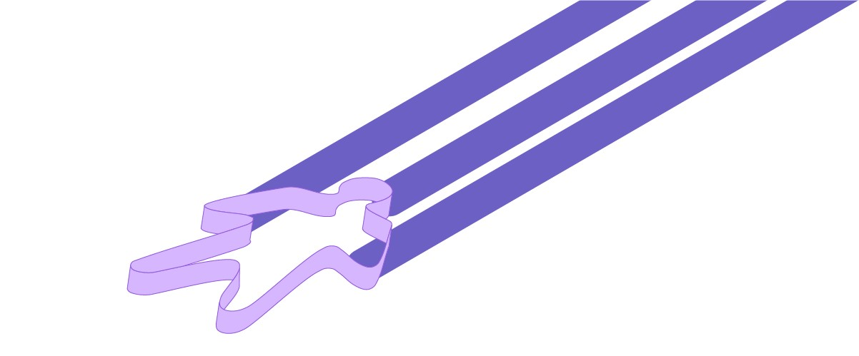 Illustration of a purple cookie cutter.
