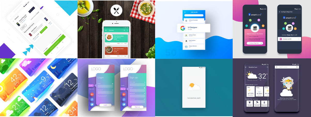 🏆 Best of Android in January 2018 - Daily assets for Designers and