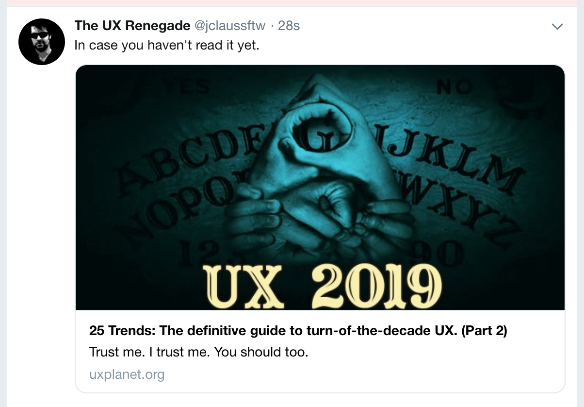 Bad UX Bites #4: Twitter's screwy link attachments - UX Planet