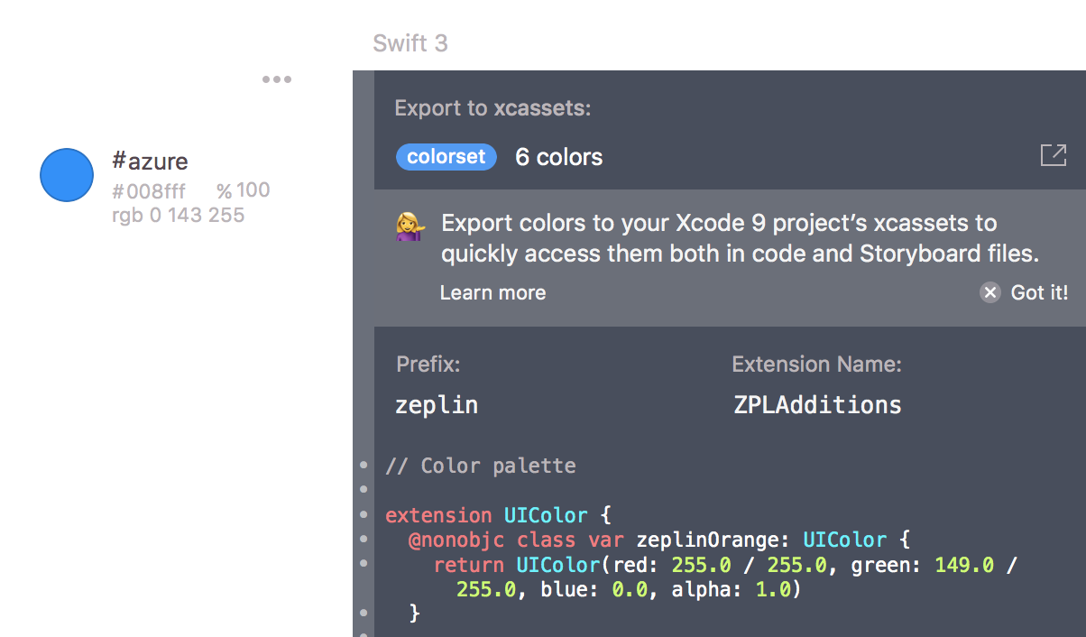 Asset catalog colors on Xcode 9 - Zeplin Gazette