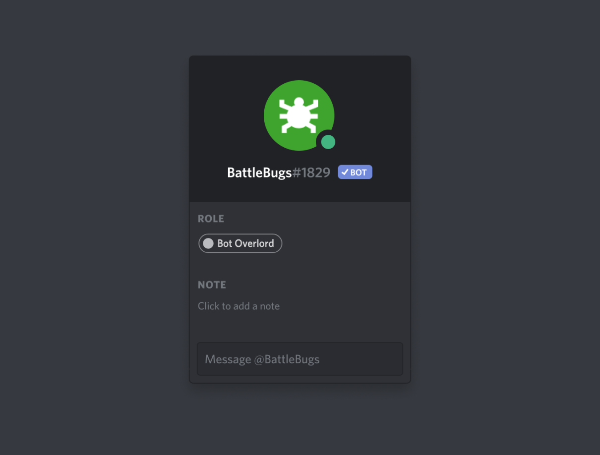Image of a verified bot badge, which is a check mark inside the current Bot badge