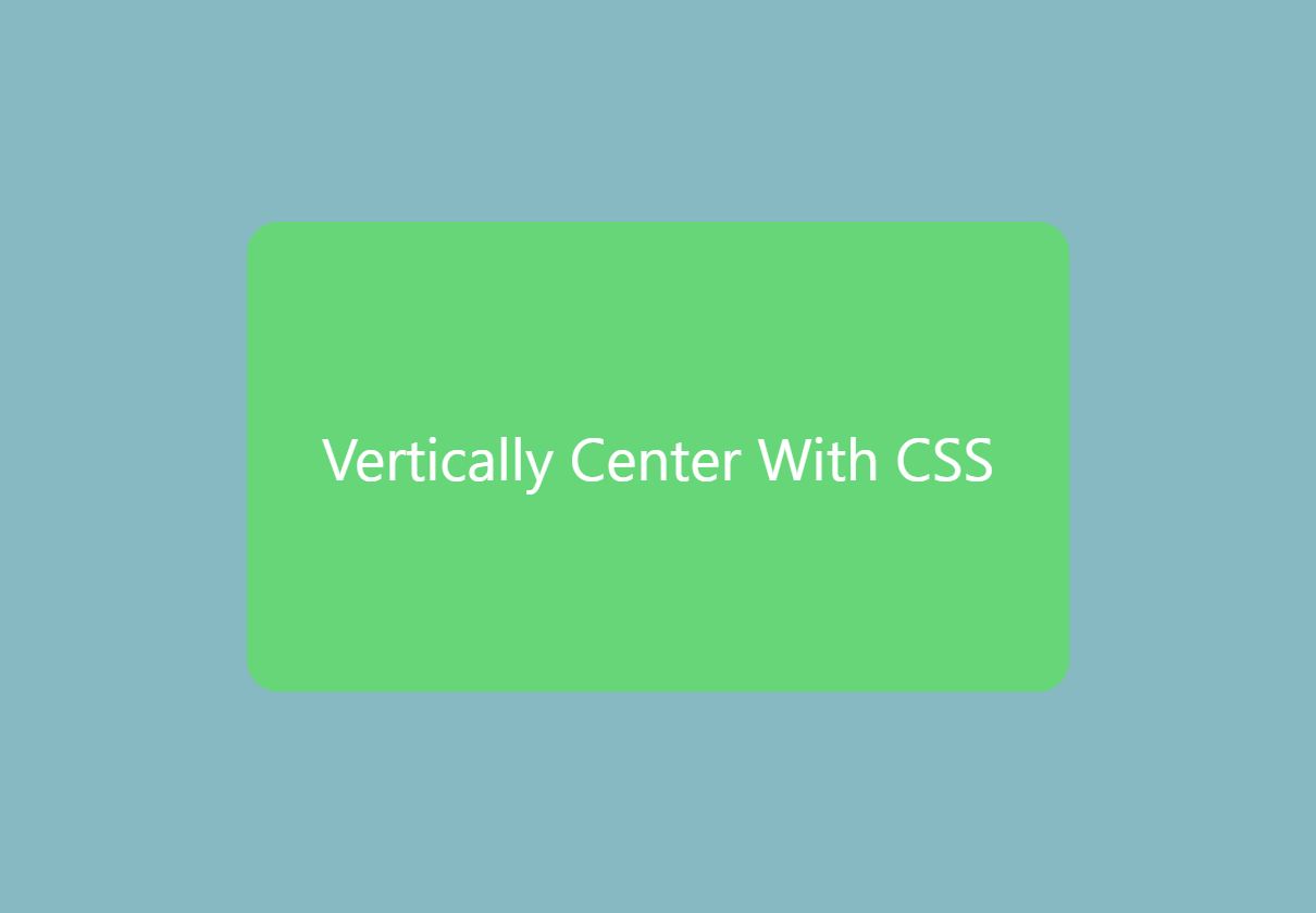 Can you vertically center in CSS? - Usama Tahir - Medium