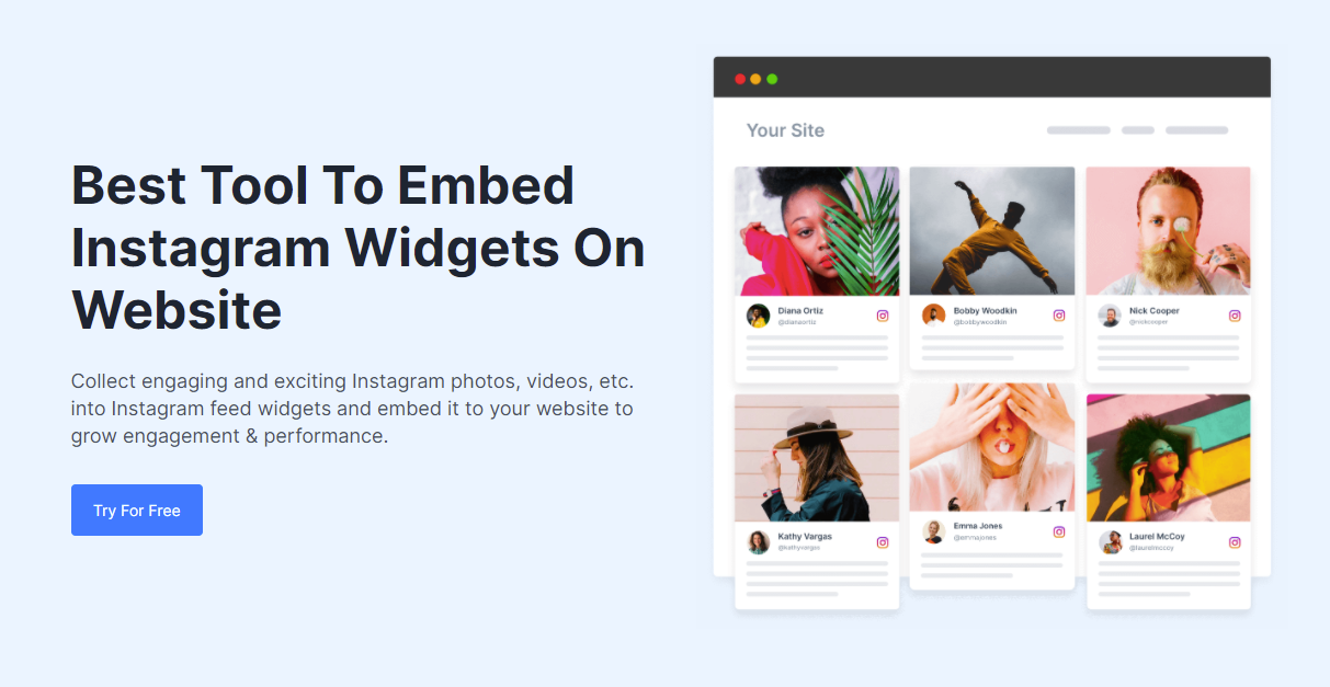 embed instagram feeds on website