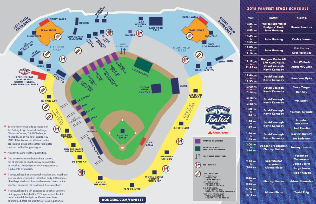 Your guide to Saay's FanFest - Dodger Insider on target field map, citi field map, dodgers section map, the getty map, la dodgers map, california map, bronson canyon map, sports authority field at mile high map, los alamitos race track map, angel stadium map, staples center map, o.co coliseum map, los angeles map, suntrust park map, wrigley field map, durham bulls athletic park map, santa fe dam recreation area map, cincinnati reds map, griffith park map, marlins ballpark map,