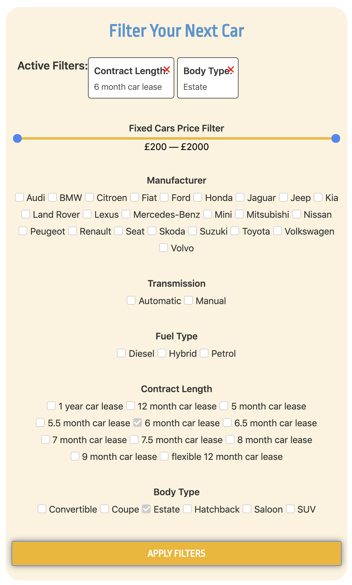 Short Term Car Lease >> Filter Your Short Term Car Lease Cocoon Vehicles Medium
