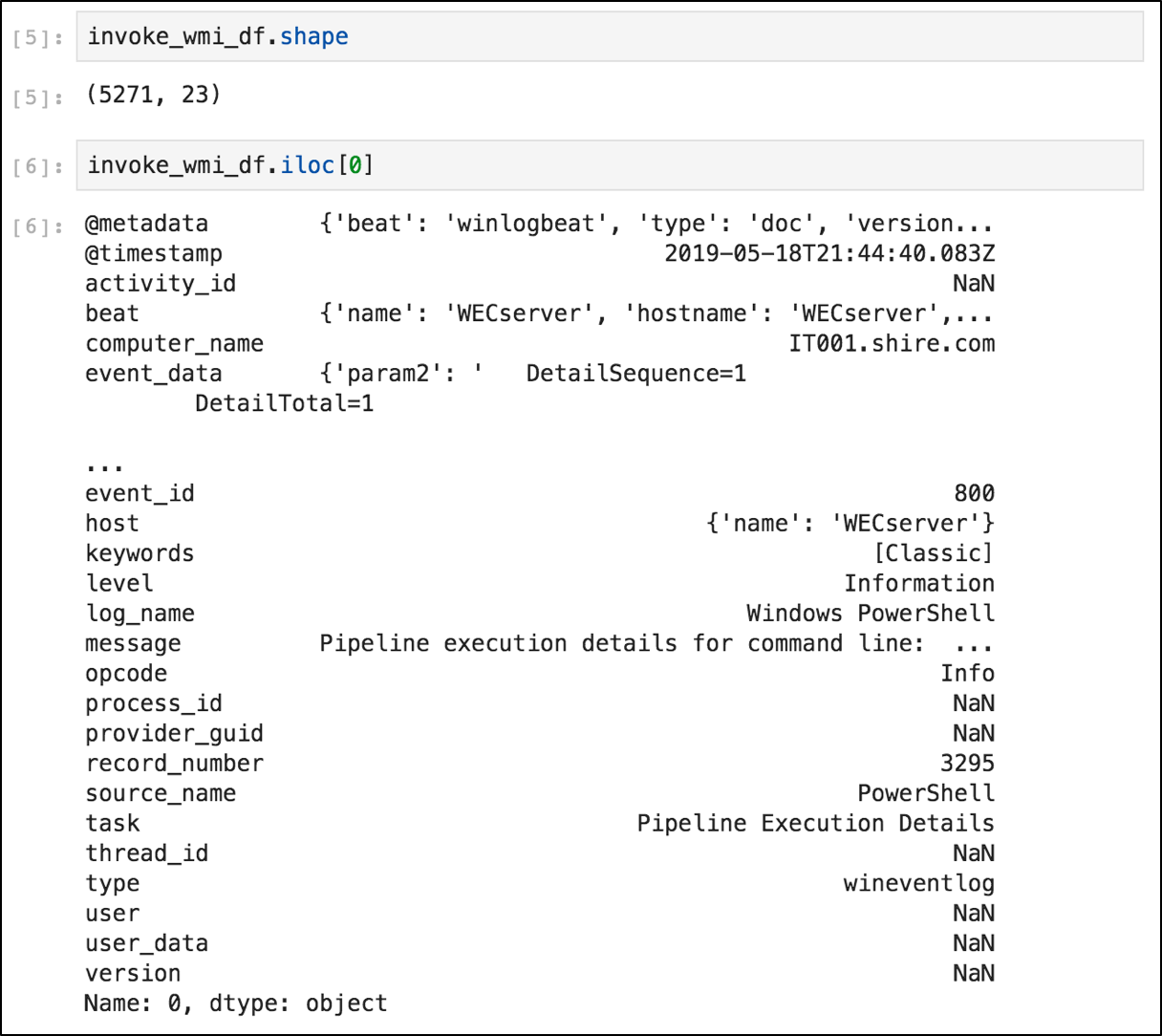 Threat Hunting with Jupyter Notebooks — Part 2: Basic Data