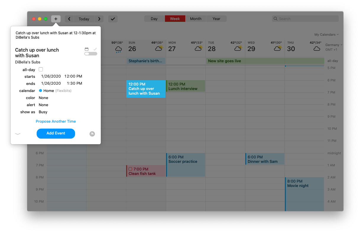 Event time proposal management in Fantastical 3