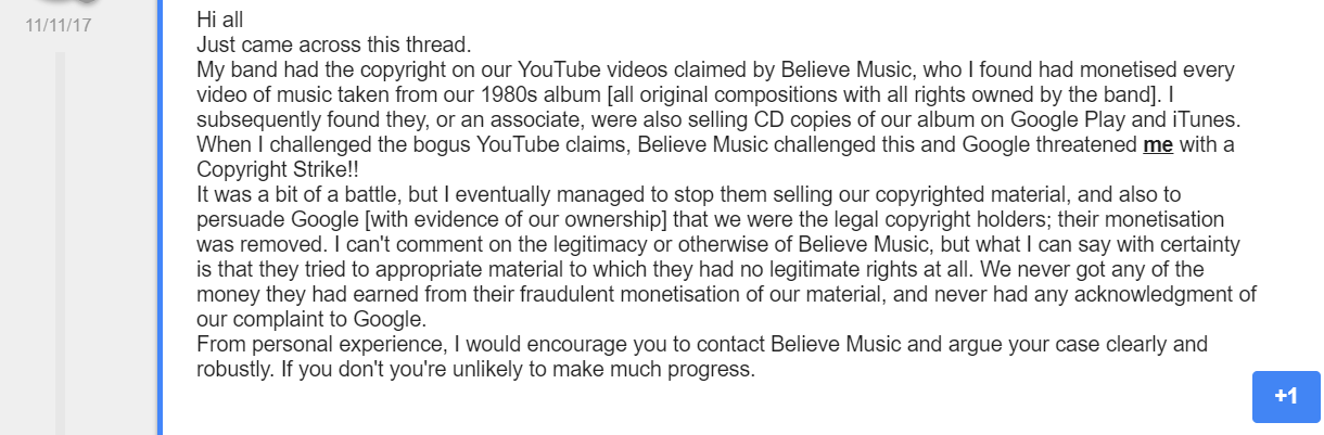 How I Deal With Fake YouTube Copyright Claims by Believe Music
