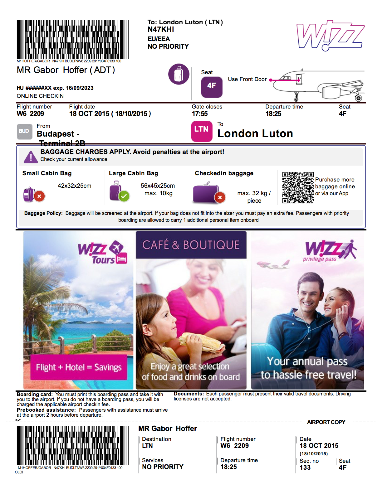 Dear Wizzair The Ticket A 4 Hour Project To Create A Better By Hoffer Gabor Medium