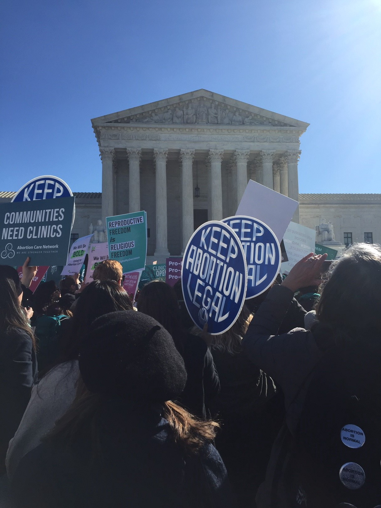 Pro-choice rally outside of the Supreme Court