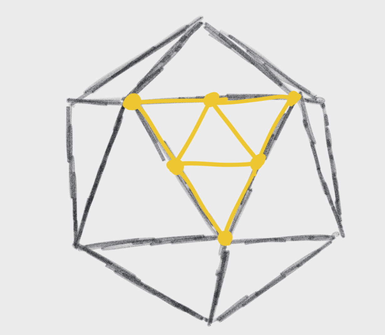 Triangles on an icosahedron
