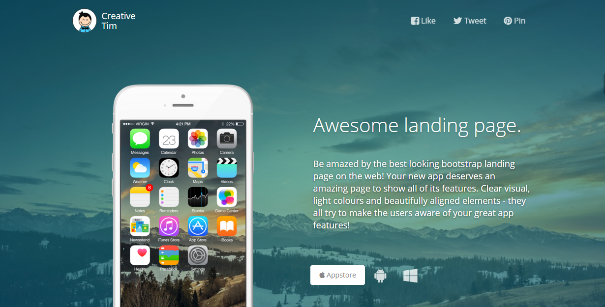 15 Free Bootstrap Landing Page Templates - Creative Tim's