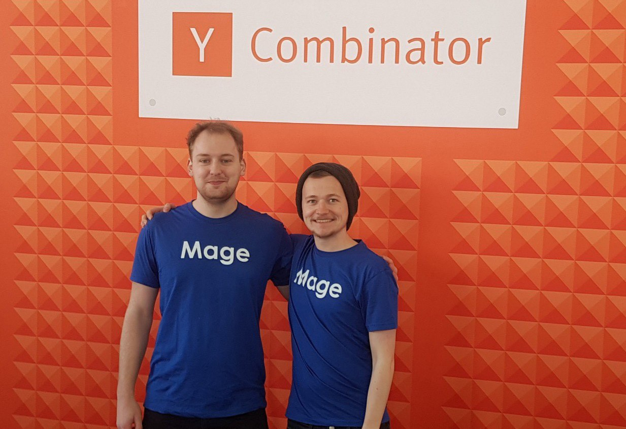 Malte and Peer at Y Combinator W19 Demo Day