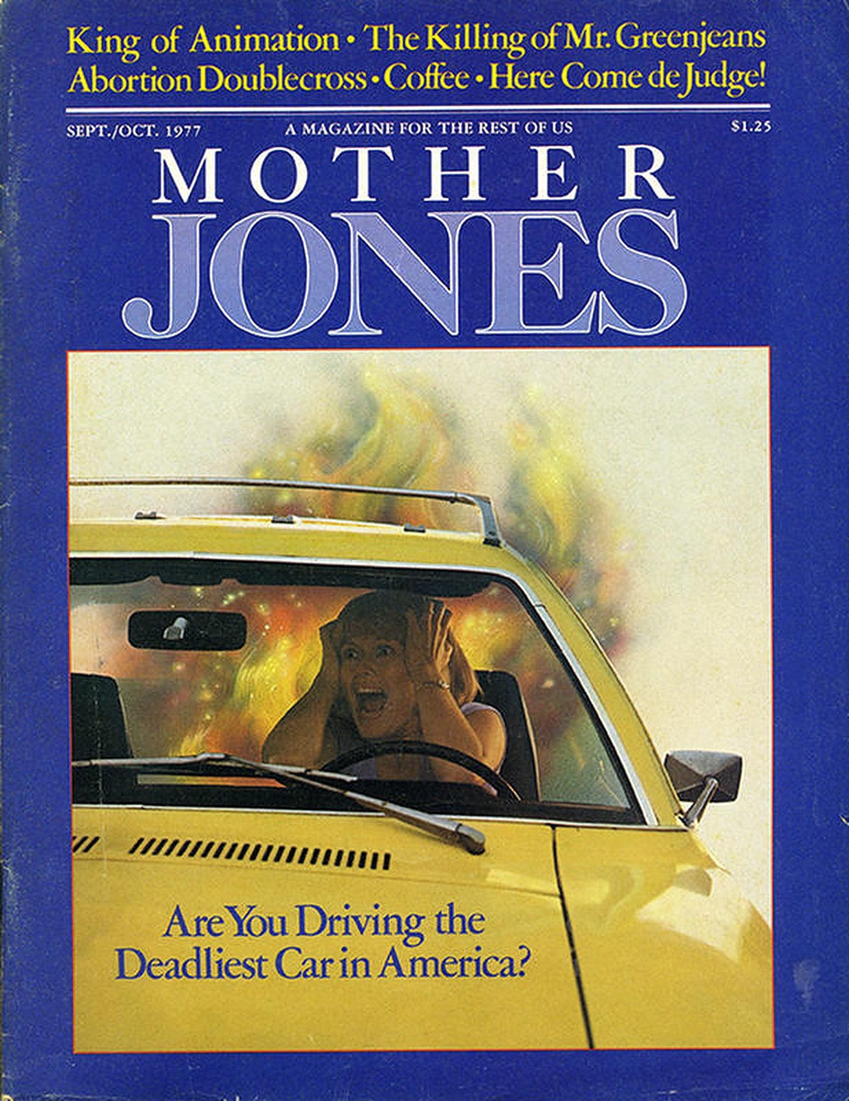 """Mother Jones cover for """"Pinto Madness."""""""