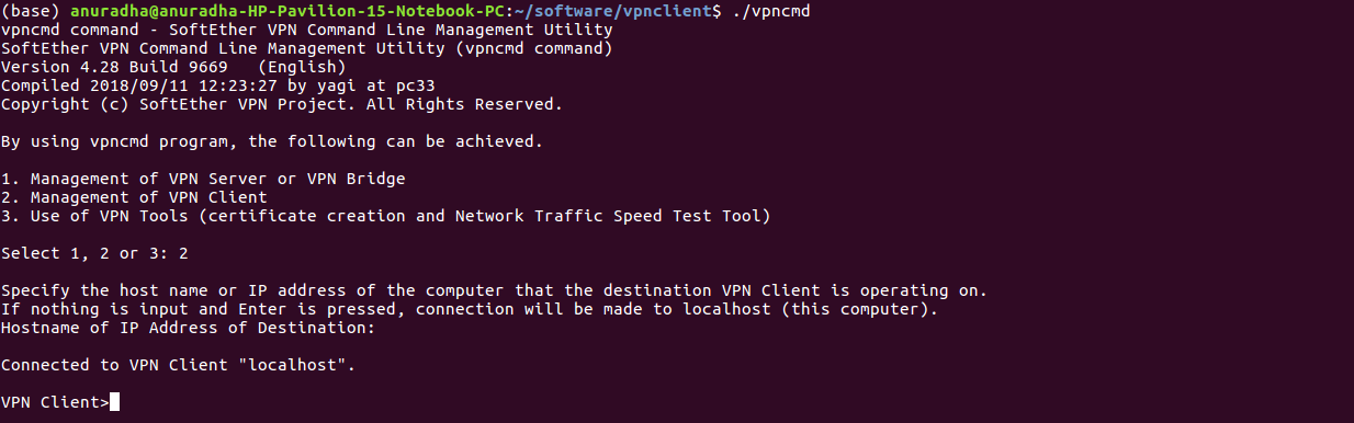 Installation Guide of SoftEther VPN Client on Linux