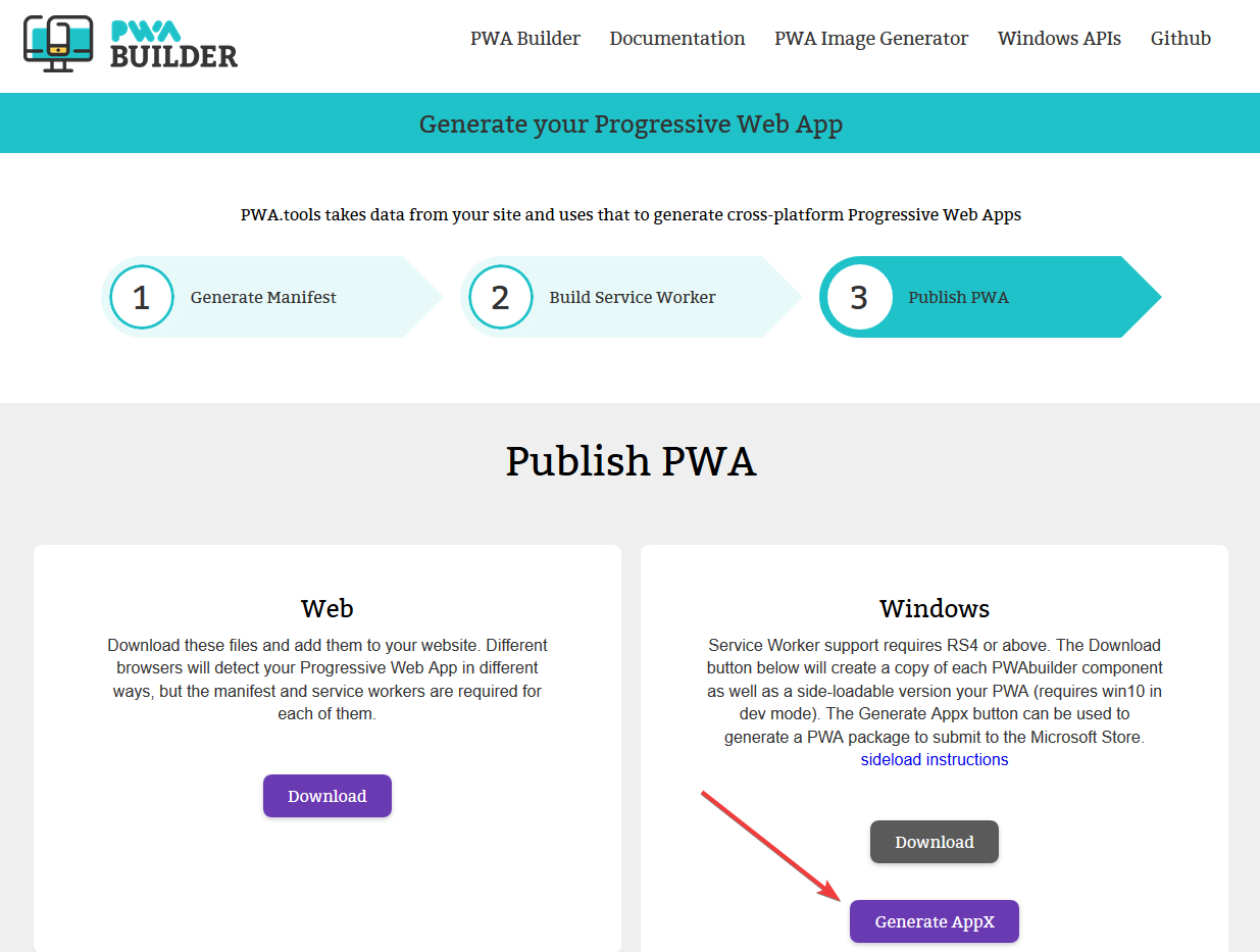 PWA on Windows  Part 1: Publishing Your App As Is - </dev