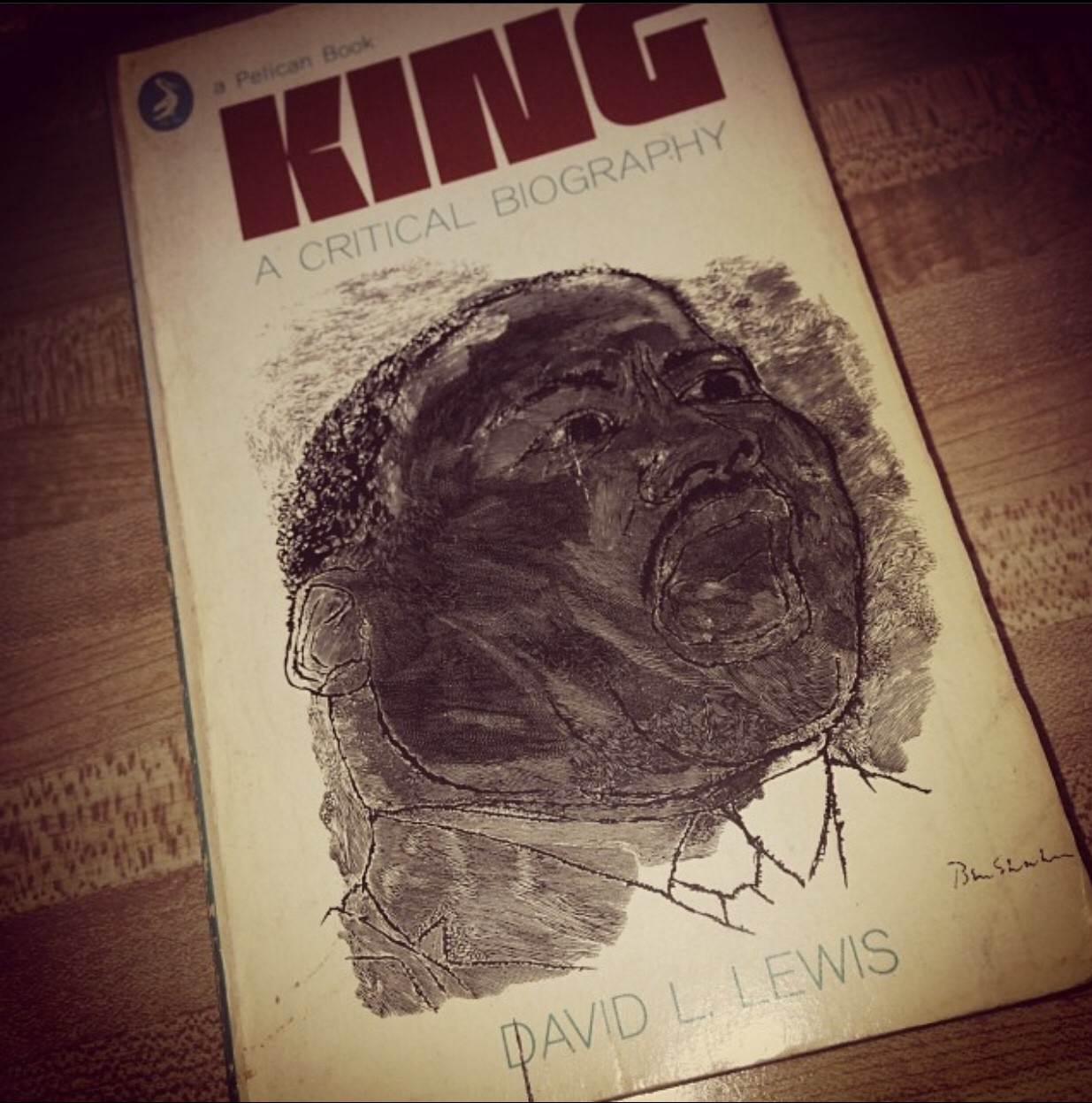 "An Imagine of a book given to me by my maternal grandfather entitled ""King: A Critical Biography"""