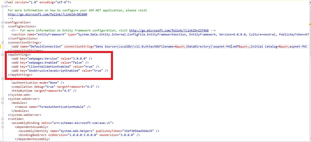 ASP NET MVC Web config move AppSettings to separate file