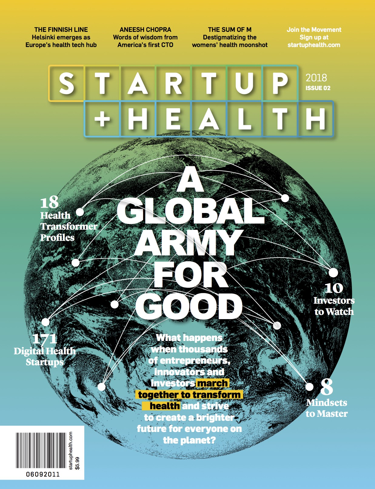 StartUp Health Launches the First Consumer Print Magazine