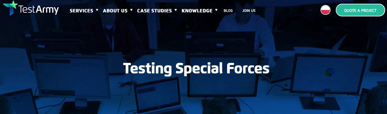 TestArmy—Testing Special Forces Company