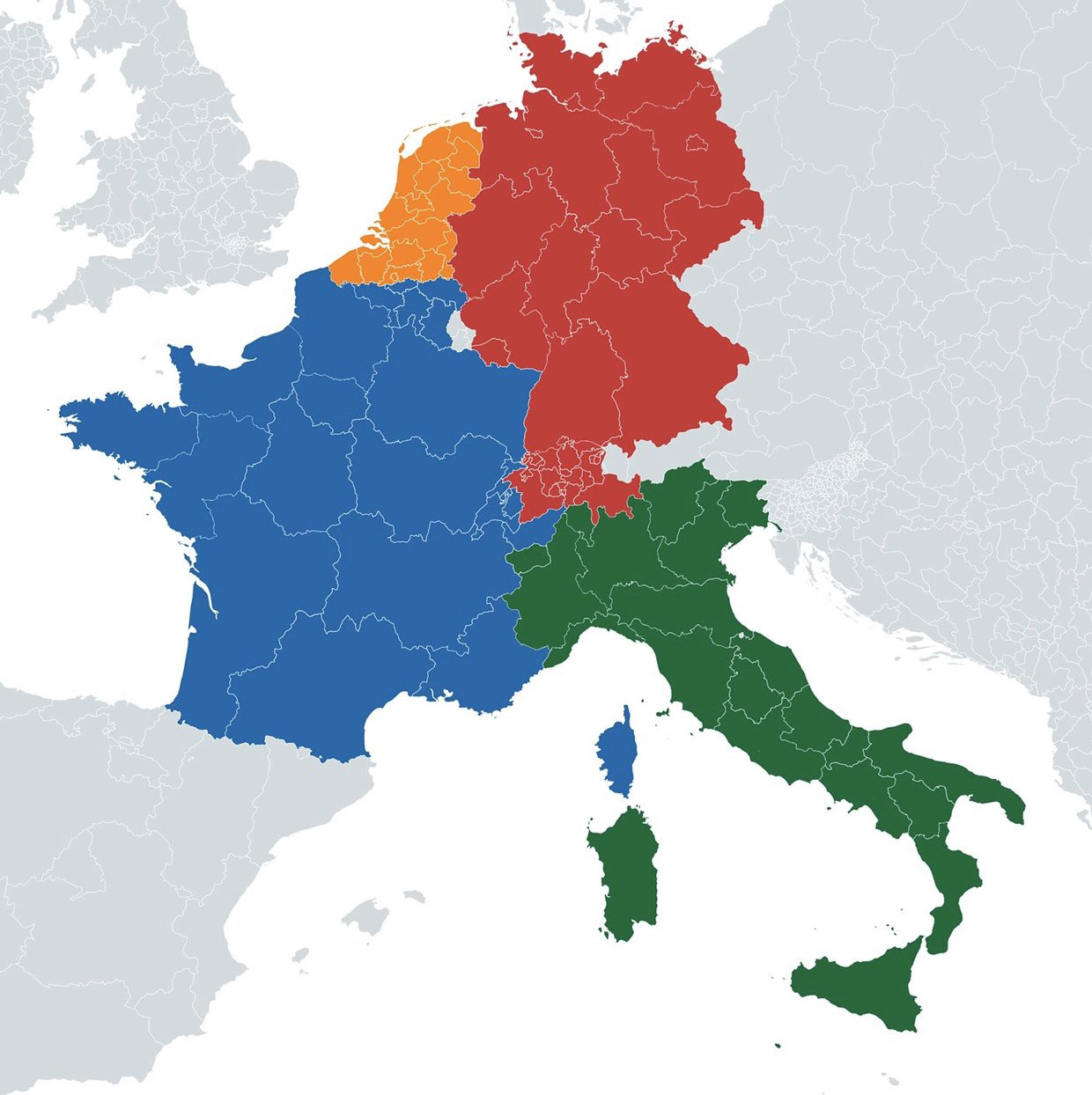 Picture of: If Regions Of Belgium And Switzerland Merged With Neighboring Countries Based On The Most Spoken Language By Vivid Maps Medium