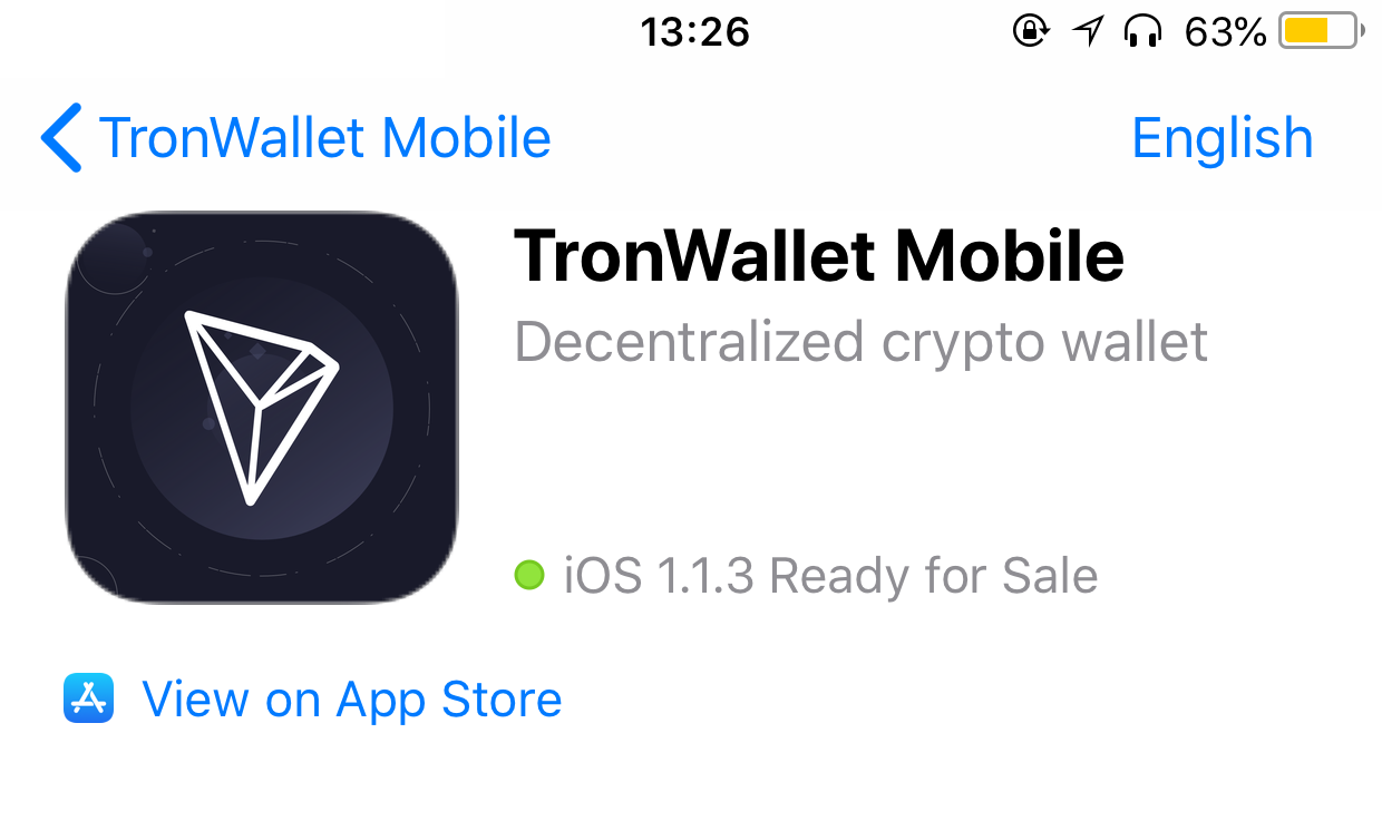 TronWallet is Now Live on Apple Store - TRON - Medium