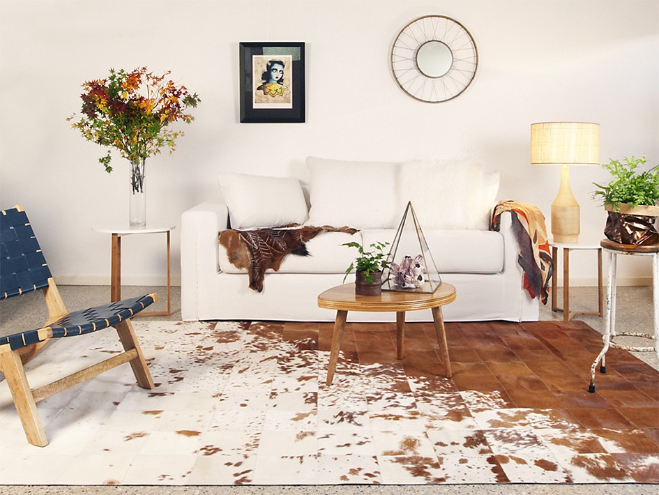 Cowhide Rugs Adding A Touch Of Rustic Charm To Contemporary