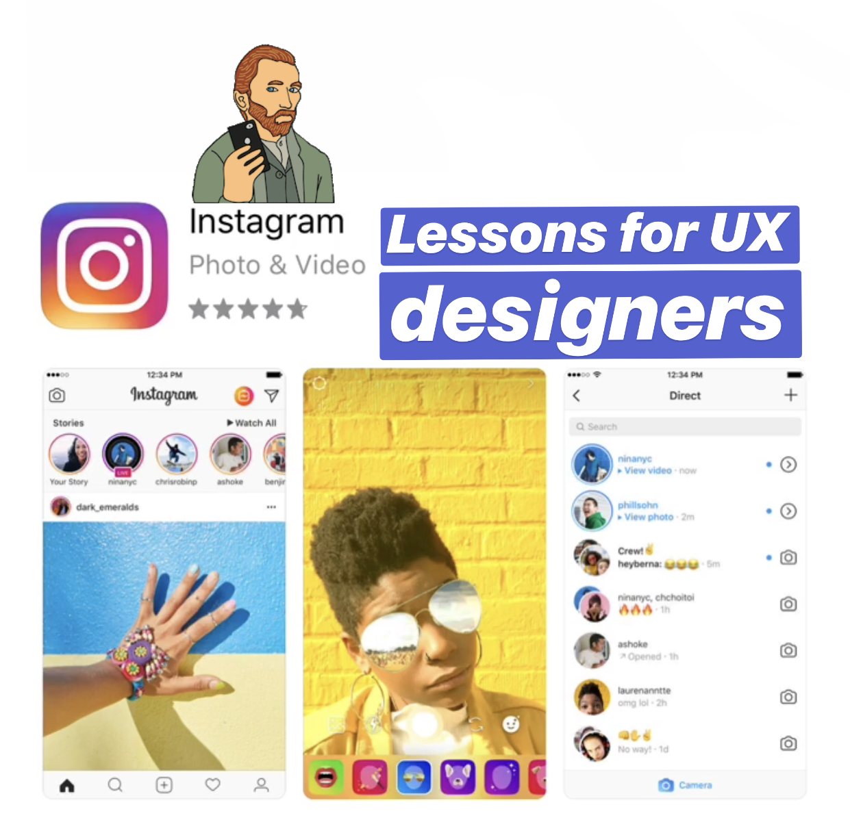 Instagram mobile usability lessons - UX Collective