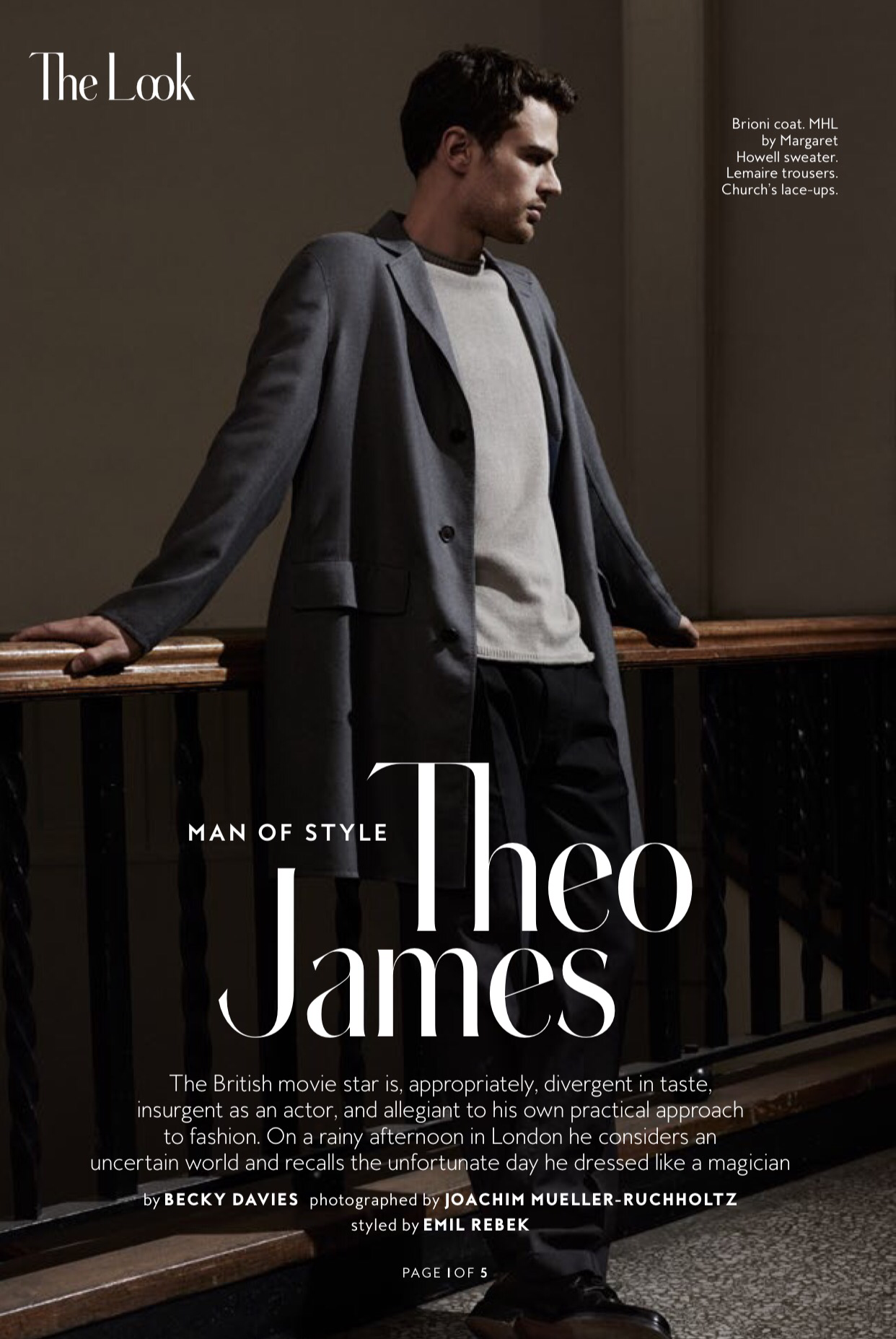 Theo James on InStyle Magazine (March 2016) [SCANS