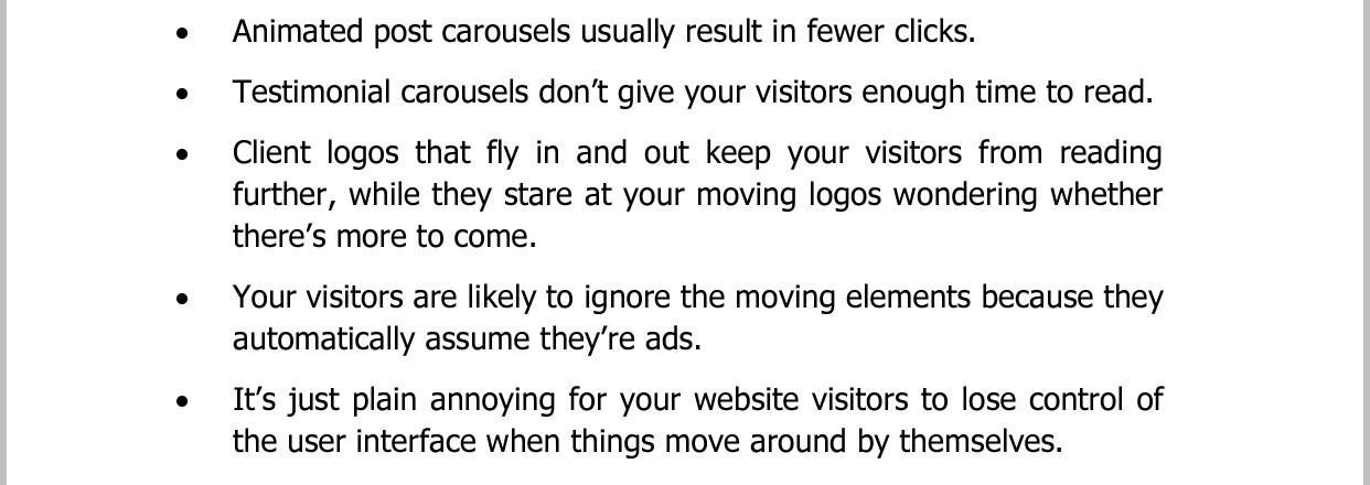 Gill Andrews' reasons why carousels on your homepage don't work